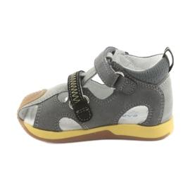 Sandałki chłopięce rzepy Bartek 81772 szare żółte 2