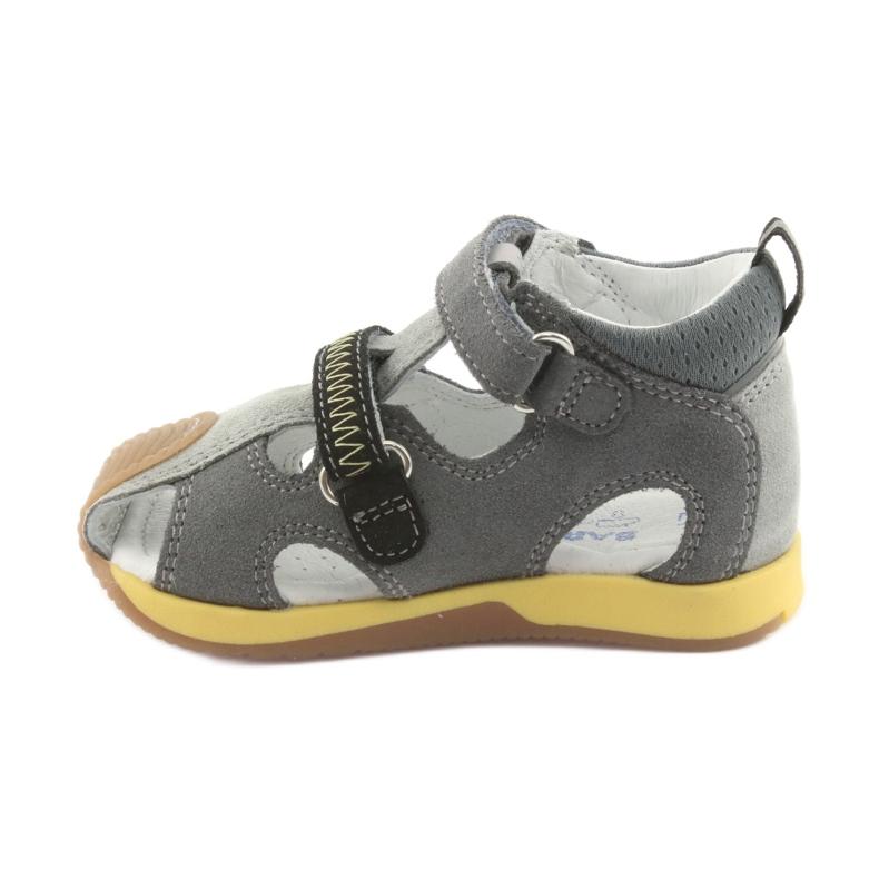 Sandałki chłopięce rzepy Bartek 81772 szare zdjęcie 2