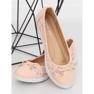 Balerinki damskie różowe 7846-P Pink 2