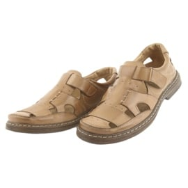 Pełne sandały Naszbut 968 beżowe beżowy 3