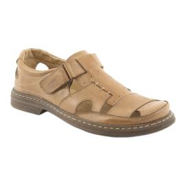 Pełne sandały Naszbut 968 beżowe beżowy 1