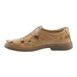 Pełne sandały Naszbut 968 beżowe beżowy 2