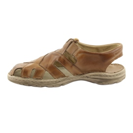 Sandały męskie na rzep Naszbut 052 beżowe beżowy 2