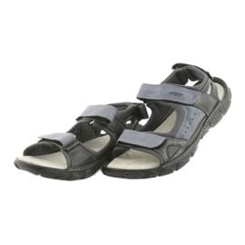 Sandały skórzane na rzepy Naszbut 043 czarne niebieskie szare 3