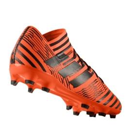 Buty piłkarskie adidas Nemeziz 17.3 Fg M S80604 pomarańczowe pomarańczowe 1
