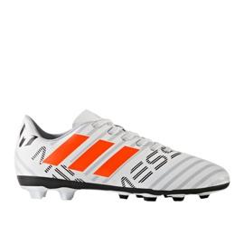 Buty piłkarskie adidas Nemeziz Messi 17.4 FxG Jr S77200 białe 1