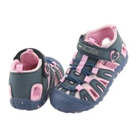 Sandałki sportowe American Club niebieskie różowe 4