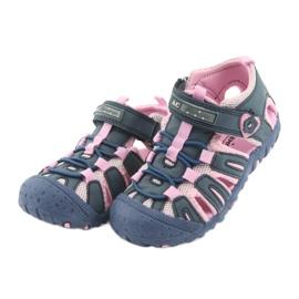 Sandałki sportowe American Club niebieskie różowe 3