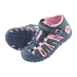 Sandałki sportowe American Club niebieskie różowe 5