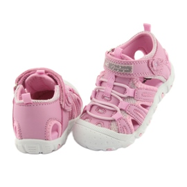 Sandałki sportowe American Club różowe 4