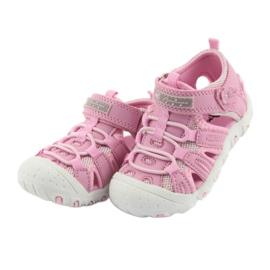 Sandałki sportowe American Club różowe 3