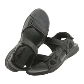Sandały sportowe American Club HL08 cz czarne 4