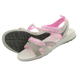 Sandały dziewczęce American Club HL12 szare 5