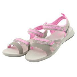 Sandały dziewczęce American Club HL12 szare 3
