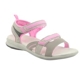 Sandały dziewczęce American Club HL12 szare 1
