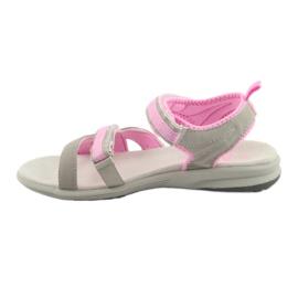 Sandały dziewczęce American Club HL12 szare 2