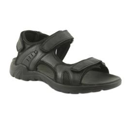 American Club American sandały sportowe skórzane CY11 czarne 1