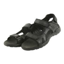 American Club American sandały sportowe skórzane CY11 czarne 3