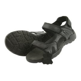 American Club American sandały sportowe skórzane CY11 czarne 4