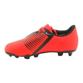 Buty piłkarskie Nike Phantom Venom Club Fg Jr AO0396-600 czerwone wielokolorowe 3