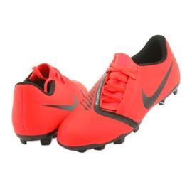 Buty piłkarskie Nike Phantom Venom Club Fg Jr AO0396-600 czerwone wielokolorowe 4