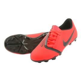 Buty piłkarskie Nike Phantom Venom Club Fg Jr AO0396-600 czerwone wielokolorowe 5
