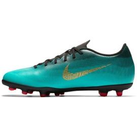 Buty piłkarskie Nike Mercurial Vapor 12 Club CR7 Mg M AJ3723-390 zielone zielone 1