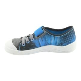 Befado obuwie dziecięce 251Y120 niebieskie szare 3