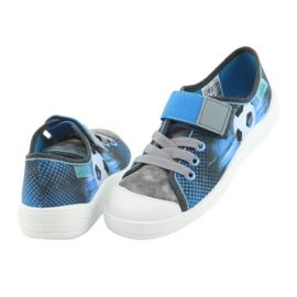 Befado obuwie dziecięce 251Y120 niebieskie szare 5