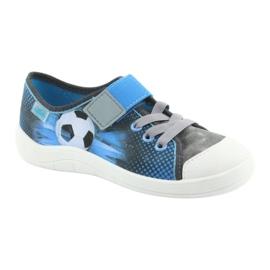 Befado obuwie dziecięce 251Y120 niebieskie szare 2