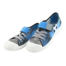 Befado obuwie dziecięce 251Y120 niebieskie szare 4