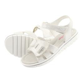 Sandałki biała perła American Club GC25 białe szare 4