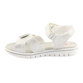 Sandałki biała perła American Club GC25 białe szare 2