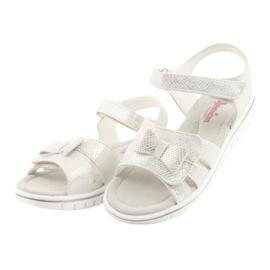 Sandałki biała perła American Club GC25 białe szare 3