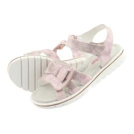 Sandałki rózowe kokarda American Club GC25 różowe 4