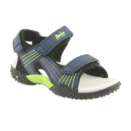 Sandałki chłopięce American Club HL16 granatowe czarne zielone 1
