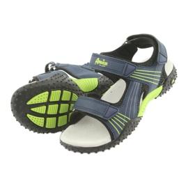 Sandałki chłopięce American Club HL16 granatowe czarne zielone 4