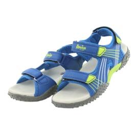 Sandałki chłopięce American Club HL16 blue/lime niebieskie zielone 3
