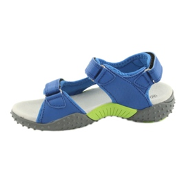Sandałki chłopięce American Club HL16 blue/lime niebieskie zielone 2