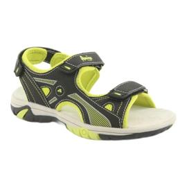 Sandałki chłopięce sportowe American Club RL22 czarne zielone 1