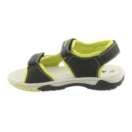 Sandałki chłopięce sportowe American Club RL22 czarne zielone 2