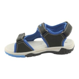 Sandałki chłopięce sportowe American Club RL22 navy/royal niebieskie szare granatowe 2