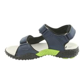 Sandałki chłopięce American Club HL15 granatowe zielone 2