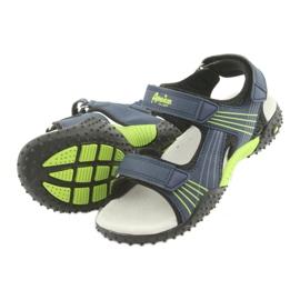 Sandałki chłopięce American Club HL15 granatowe zielone 4