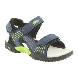 Sandałki chłopięce American Club HL15 granatowe zielone 1