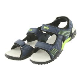 Sandałki chłopięce American Club HL15 granatowe zielone 3