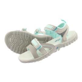 Sandałki dziewczęce sportowe American Club HL14 grey/mint szare zielone 4
