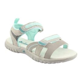 Sandałki dziewczęce sportowe American Club HL14 grey/mint 1