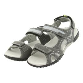 Sandałki chłopięce sportowe American Club RL18 grey szare 3