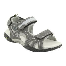 Sandałki chłopięce sportowe American Club RL18 grey szare 1